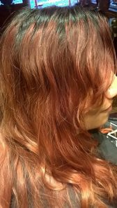 Photo of woman's hair before coloring